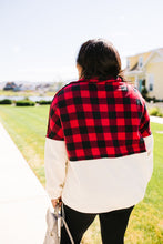 Load image into Gallery viewer, Buffalo Plaid Color Block Pullover