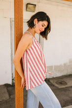 Load image into Gallery viewer, Candy Striped Tie Front Cami