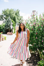Load image into Gallery viewer, Carnival Striped Midi Dress