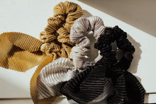Load image into Gallery viewer, Crimped Metallic Scrunchy