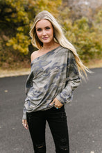Load image into Gallery viewer, Faded Camo Off The Shoulder Top