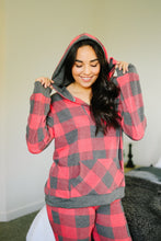 Load image into Gallery viewer, Faded Plaid Hoodie