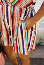 Load image into Gallery viewer, Fall Fantasy Striped Romper