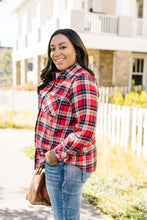 Load image into Gallery viewer, Fleece-Lined Flannel Button-Down In Red