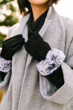 Load image into Gallery viewer, Fur Cuff Tech Savvy Gloves