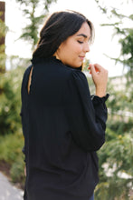 Load image into Gallery viewer, Grace Mock Neck Blouse In Black