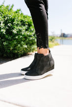 Load image into Gallery viewer, Hole In One Suede High Tops In Black