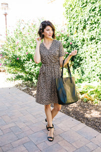 Hot Spot Leopard Print Dress