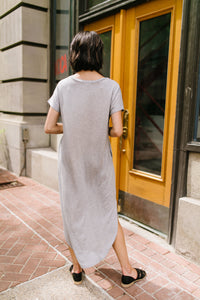 Keep Your Cool Dress In Heather Gray