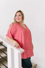 Load image into Gallery viewer, On The Dot Blouse In Coral