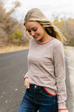 Load image into Gallery viewer, On The Edge Taupe Sweater