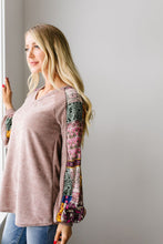 Load image into Gallery viewer, Playful Patchwork Sleeve Blouse