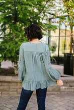 Load image into Gallery viewer, Pleasant Peasant Blouse In Sage