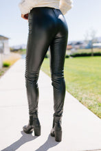 Load image into Gallery viewer, Rock 'n' Roll Vegan Leather Moto Leggings