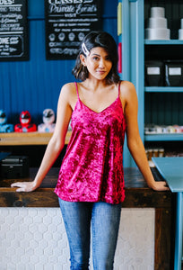 Secret Crush Cami In Fuchsia