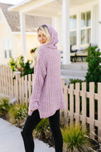 Load image into Gallery viewer, Sugar Plum Popcorn Knit Hooded Sweater