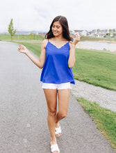 Load image into Gallery viewer, Sweet Scalloped Cami In Royal Blue