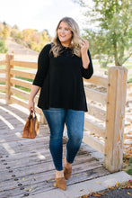 Load image into Gallery viewer, Touch Of Lace Tunic In Black