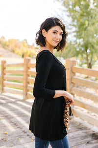 Touch Of Lace Tunic In Black