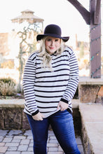 Load image into Gallery viewer, Twice The Stripes Sweater