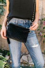 Load image into Gallery viewer, Velvet Chevron Crossbody Bag