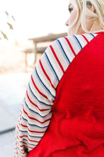 Load image into Gallery viewer, Well-Red Raglan Top