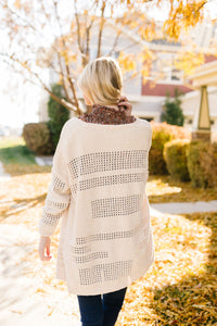 Window Shopping Cream Cardigan