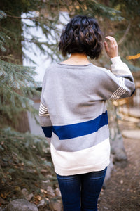 Winter Blues Striped Sweater