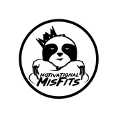 Motivational Misfits, the King Slouth with two middle fingers extended downwards