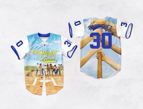 Benny The Jet Rodriguez The Sandlot Legends Baseball Jersey 39 - Jersey Champs