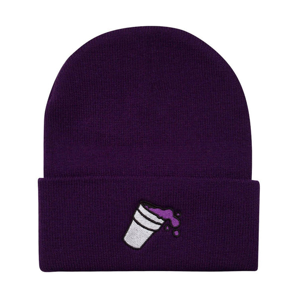 Purple Cup Lean Drank Beanie