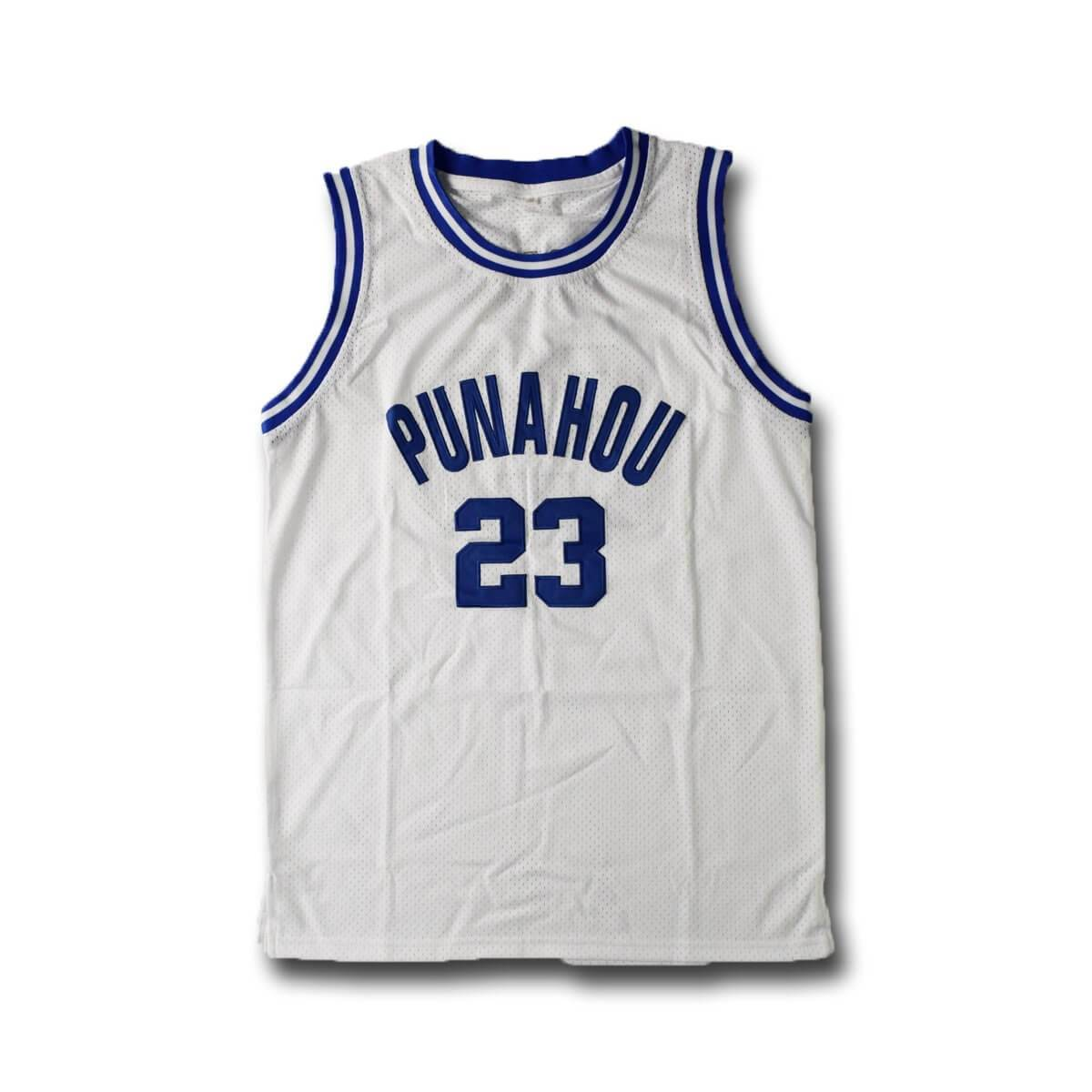 Barack Obama Punahou High School Basketball Jersey