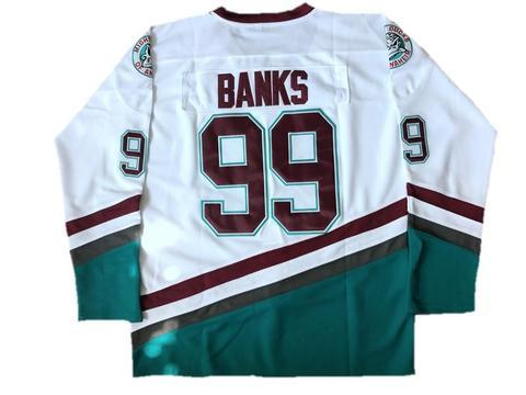 Banks Mighty Ducks 99 Ice Hockey Jersey