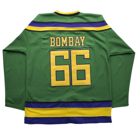 Gordon Bombay 66 Mighty Ducks Ice Hockey Jersey