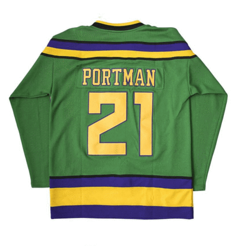 Dean Portman Mighty Ducks 21 Ice Hockey Jersey
