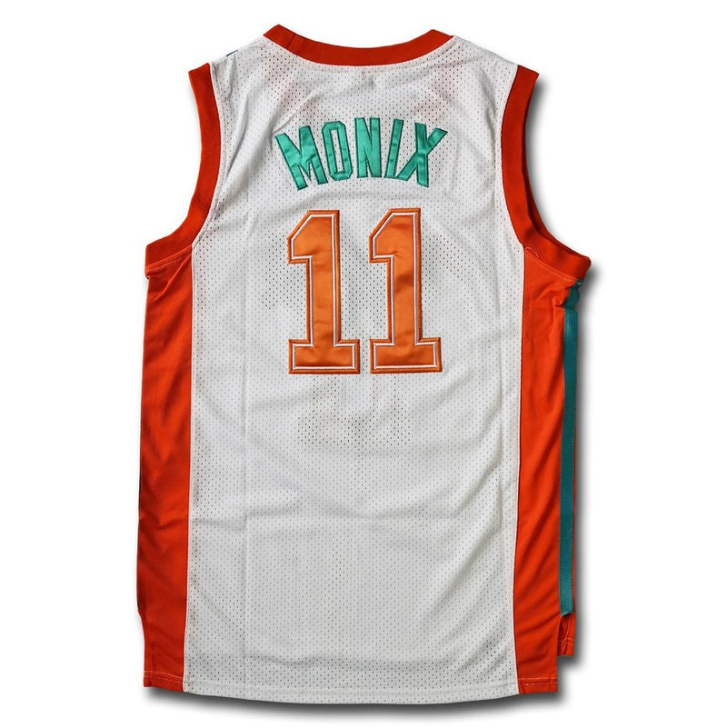 Flint Tropics Ed Monix Basketball Jersey #11 Stitched Green/White