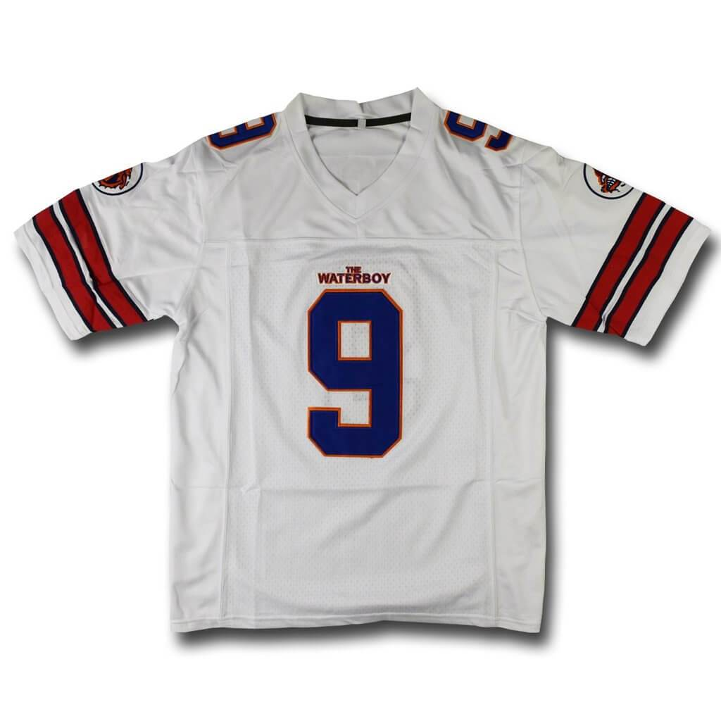 Adam Sandler Bobby Boucher The Waterboy Mud Dogs Football Jersey Orange