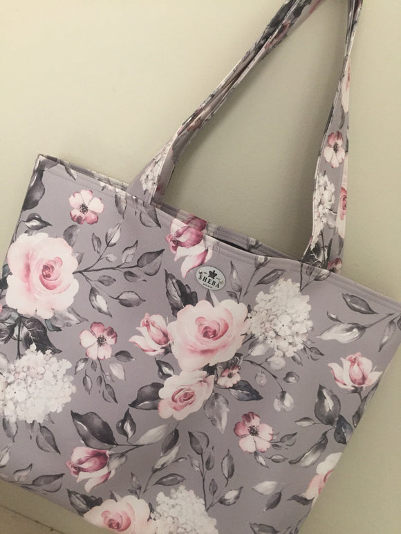 Grey Bloom Luxe Shopper