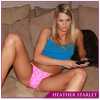 Heather Starlet - Pink Lace G String Thong