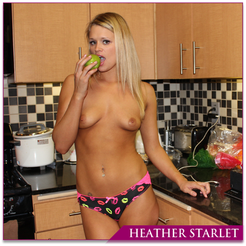 Heather Starlet - Black Panties With Multi Color Lip Kisses  And Pink Lace Back