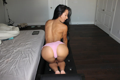 Amia Miley - Pink Ruffle Panties