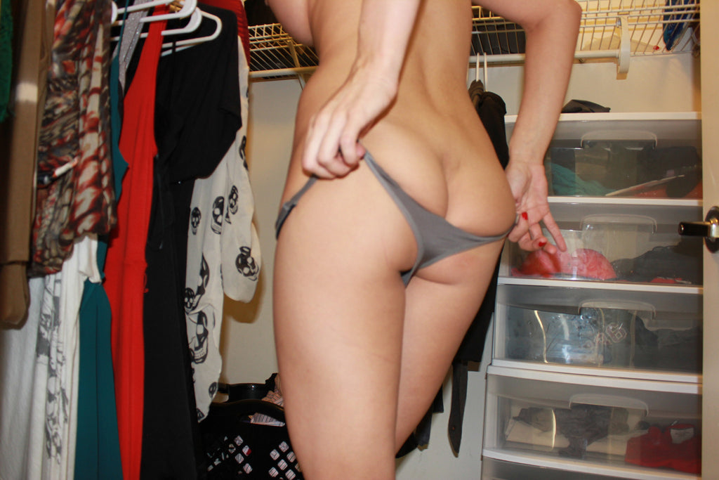 Tiffany Tyler - Grey Thong