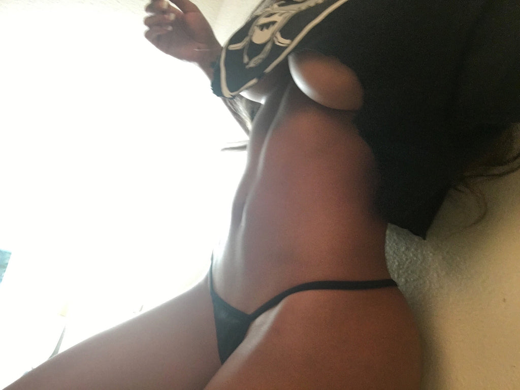 Amia Miley Black Gstring as seen on IG