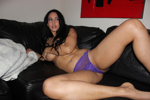 Isis Love - Purple Lace Panty