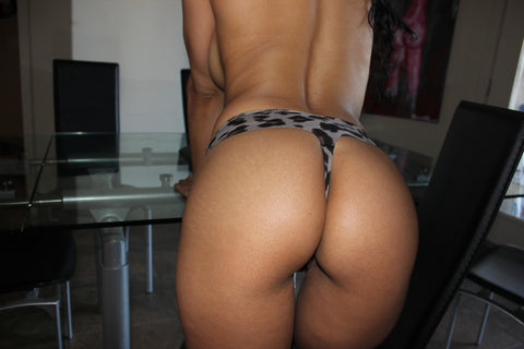 Isis Love - High Waist Animal Print Thong