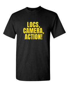 LOCS, CAMERA, ACTION TEE (BLK) - Good Loc Day
