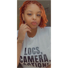 Load image into Gallery viewer, LOCS, CAMERA, ACTION! TEE (WHT)