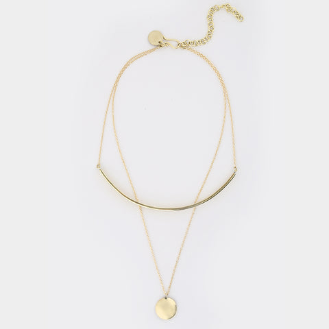 Layered Horn Almasi Necklace