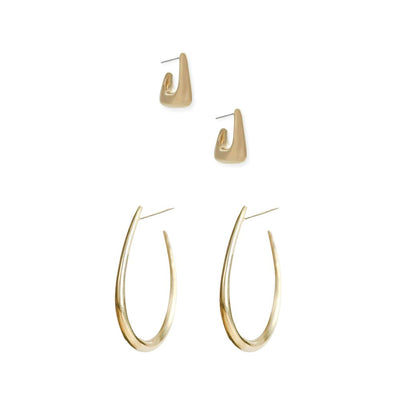 Mezi Maxi Hoop Earrings + Mezi Boxed Hoop Earrings
