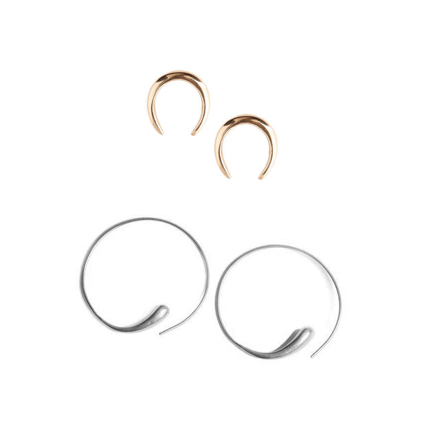 Horseshoe Dash Earrings Set